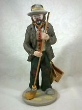Flambro Emmett Kelly Jr. Figurine Hobo Clown With Broom