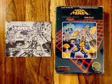 Mega Man 1 ORIGINAL NES Nintendo BOX ONLY and MINT MANUAL NO cart game CAPCOM