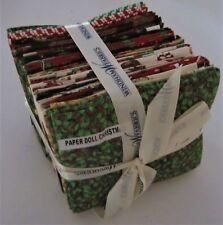 Windham PAPER DOLL CHRISTMAS 24 FQ Bundle of 100% Cotton Fabric SEWING Lot