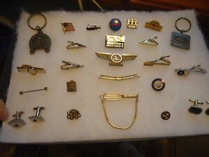 Vintage mix item jewelry Mens tie clips cuffs pins lot - Swank