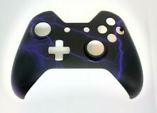 """Custom Xbox One Controller """"Purple Lightning [1]"""" Front Shell w/tools (Matte)"""