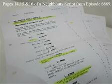 TV Show Neighbours Collectable memorabilia 3 pages of a script Episode 6669 Lot1