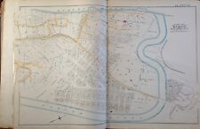 1891 E. ROBINSON INWOOD MANHATTAN 190TH - SPUYTEN DUYVIL CREEK ORIG MAP ATLAS