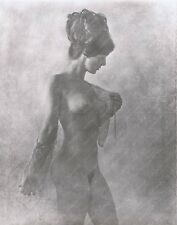 Hendrickson Sweet Portrait of Nude Model with Updo in State of Undress