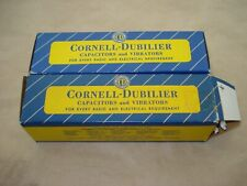 2 vintage Cornell Dubilier can electrolytic capacitors 20uF+20uF+20uF 450V Nos