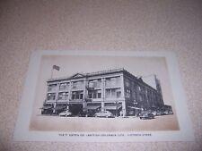 1950s T. EATON CO. DEPARTMENT STORE VICTORIA BC. CANADA VTG POSTCARD