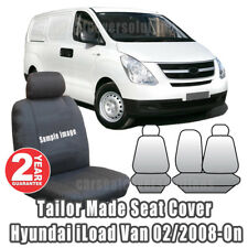 Canvas Bucket Bench Front Seat Covers Fit Hyundai iLoad I-LOAD Van TQ 2008-On