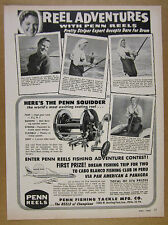 1964 Penn Squidder Reel smith island red drum fishing photos vintage print Ad