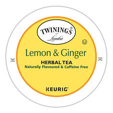 Twinings of London Lemon and Ginger Tea K-Cups 24 count Brand New FRESH Stock