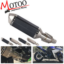 Soto-racing Exhaust Middle Pipe Slip On Muffler For YAMAHA R25 R3 2015-2018 MT03