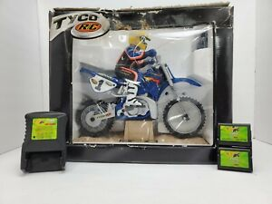 1999 Tyco RC X-Treme Cycle Jeremy McGrath Dirt Bike W/ Battery Pack Charger