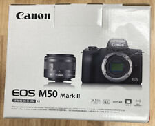 Canon EOS M50 Mark II Mirrorless Digital Camera with 15-45mm Lens - Black