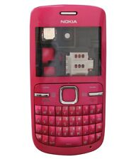 Housing: Front cover + Back cover + Keypad for Nokia C3-00 pink