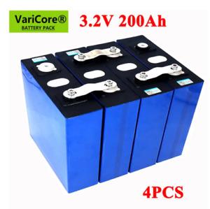 4pcs VariCore 3.2V 200Ah LiFePO4 battery 3.2v 3C iron phosphate Yacht Solar RV