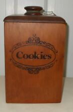 Vintage CAPE CRAFT PINE Early American Decorative Items Cookie Box With Tag