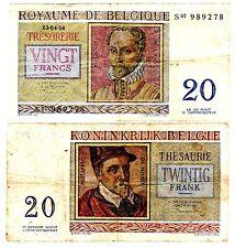 Belgique Belgium Billet 20 Francs 1956 P132 ROLAND DE LASSUS / DE MONTE BON ETAT