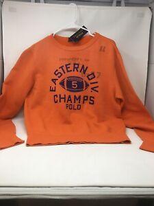 Polo Ralph Lauren Crewneck Sweatshirt Eastern Champs Orange Football Medium