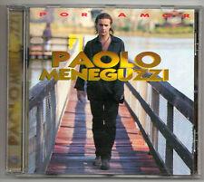 PAOLO MENEGUZZI Por amor CD CANTATO IN SPAGNOLO CD di STAMPA SPAGNOLA MOLTO RARO