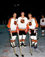 Bob Probert, Wayne Gretzky, Mark Messier 8x10 Photo