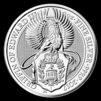2017 2 oz Queen's Beast Griffin of Edward III 9999 Silver BU Coin from Roll