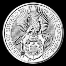 2017 2 oz Queens Beast Griffin of Edward III .9999 Silver BU Coin from Mint Roll