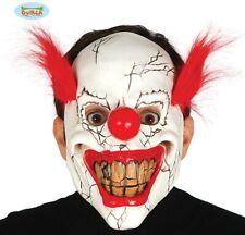 Déguisement Halloween Clown Visage Masque Latex Horreur avec Cheveux Fg