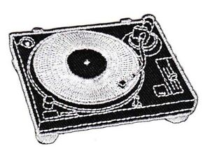 Be40 Dj Turntable Sew-On Application Patch Vintage Retro LP DIY