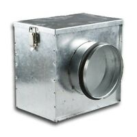 """4"""" 100mm In Line Air Filter Box for Extractor fan, Duct, Ventilation, Hydroponic"""