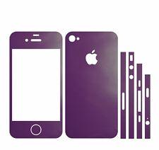 22 FAR IPHONE 4S FOLIE LILA ( BUMPER COVER HÜLLE SCHALE CASE VIOLETT SCHRAUBE )