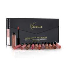 NICEFACE 12Pcs/Set Matte Long-Lasting Lipstick 12 Colors Lip Gloss Waterpro X7B4