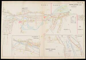 1904 BERKSHIRE COUNTY, MASSACHUSETTS, NORTH ADAMS, GREYLOCK, COPY PLAT ATLAS MAP