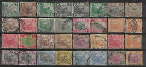 FEDERATED MALAY STATES 1900-34 Leaping Tigers Used lot.