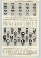 1928 PAPER AD 2 Sided Masons Rings Elks Club K of C Knights of Columbus ++