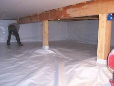 6 Mil Reinforced Vapor Barrier 4ft x125ft Encapsulation Pier Wrap Crawlspace