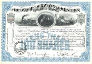 1960 Delaware Lackawanna & Western Railroad - railway stock certificate