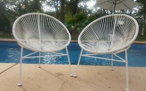 One Acapulco Woven Childs Lounge Chair White Nice