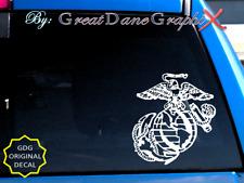 U.S. Marine Corps Emblem #1 Large -Vinyl Decal Sticker-Color Choice-High Quality