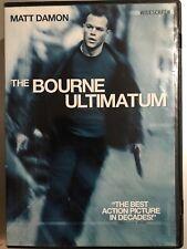 MATT DAMON BOURNE ULTIMATUM ~ 2007 Magnífico Robert Ludlum Thriller US R1 DVD