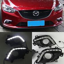 car LED DRL Driving Daytime Running Day Lamp Light For Mazda 6 M6 2013~2015