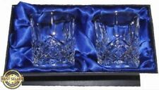 More details for hand cut crystal whisky glasses x 2 with presentation box