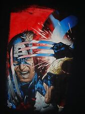 Great Captain America vs. Wolverine T-Shirt, Size Medium, Good Condition! Marvel