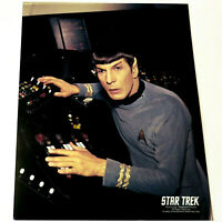*LEONARD NIMOY* Mr. Spock at Bridge Controls STAR TREK TOS COLOR 8x10 PHOTOGRAPH