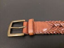 Suitsupply Brown Braided Leather Belt - Size 34