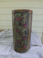 Weller Art Pottery Umbrella Stand Flemish Line Vase Floral Antique Vintage 1900s