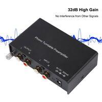 Preamplificador de fono Systems Doble canal Analógico Tocadiscos Phono Nuevo