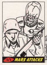 RICH WOODALL Sketch card from Mars Attacks: Heritage: Hand-Drawn 1/1