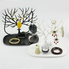 White Deer Tree Shape Jewelry Display Holder Bracelet Ring Necklace Stand NEW