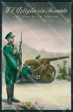 Militari WWI Propaganda Artiglieria Pesante Foto cartolina XF0392