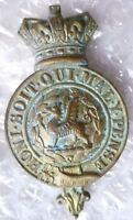 VICTORIAN Monmouthshire Regiment Glengarry Badge Honi Soit Qui Maly Pense- ORG