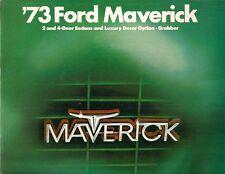 Ford Maverick 1973 USA MARKET sales brochure 2-dr 4-dr Grabber